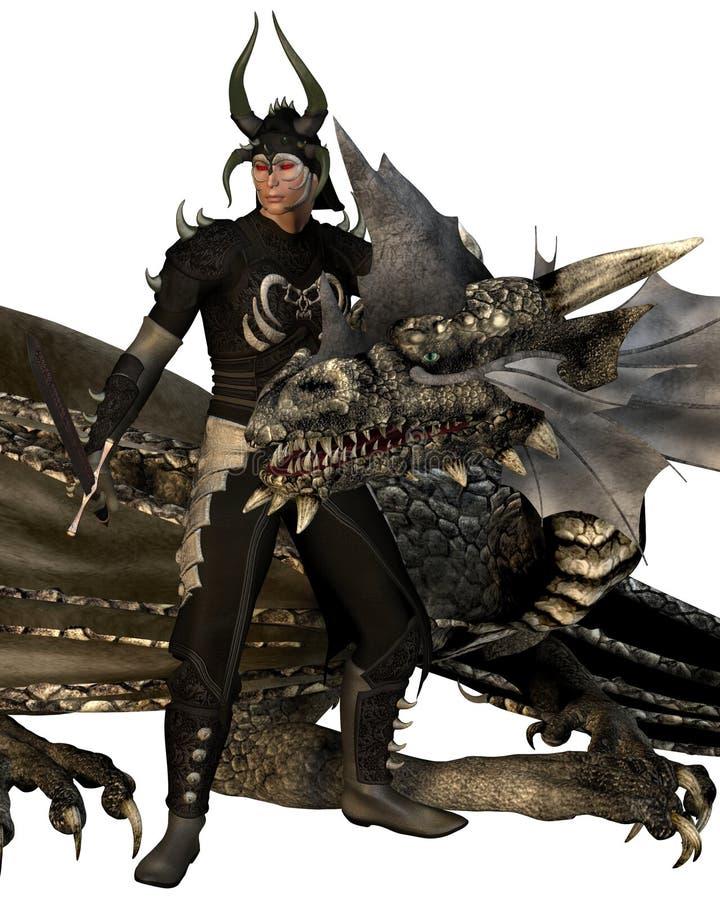 Lord van de Draak en de Draak vector illustratie