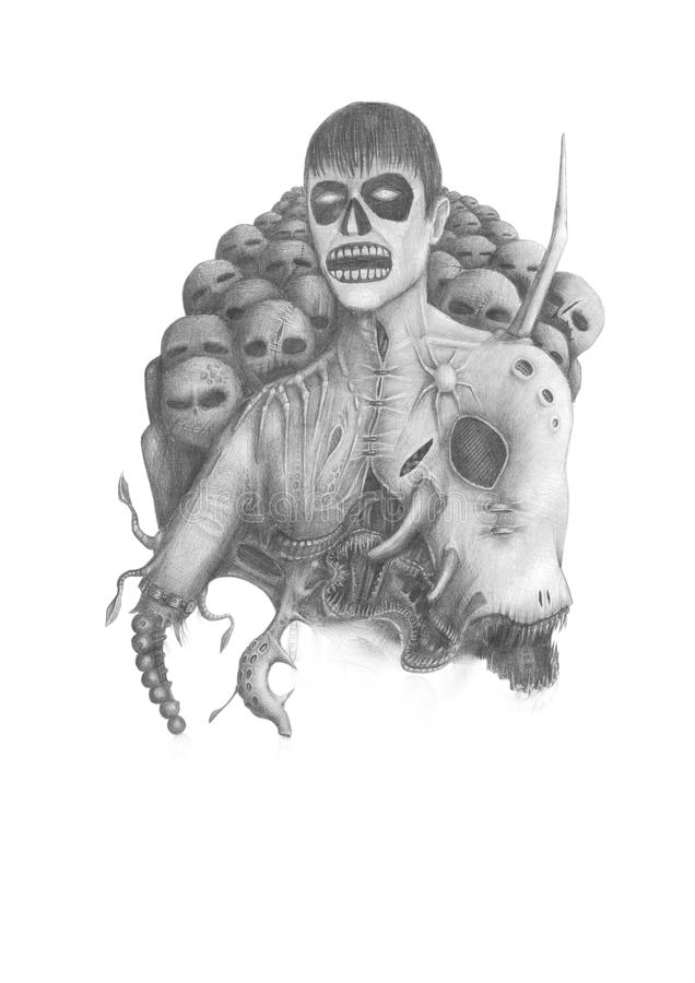 Lord van Duisternis royalty-vrije illustratie
