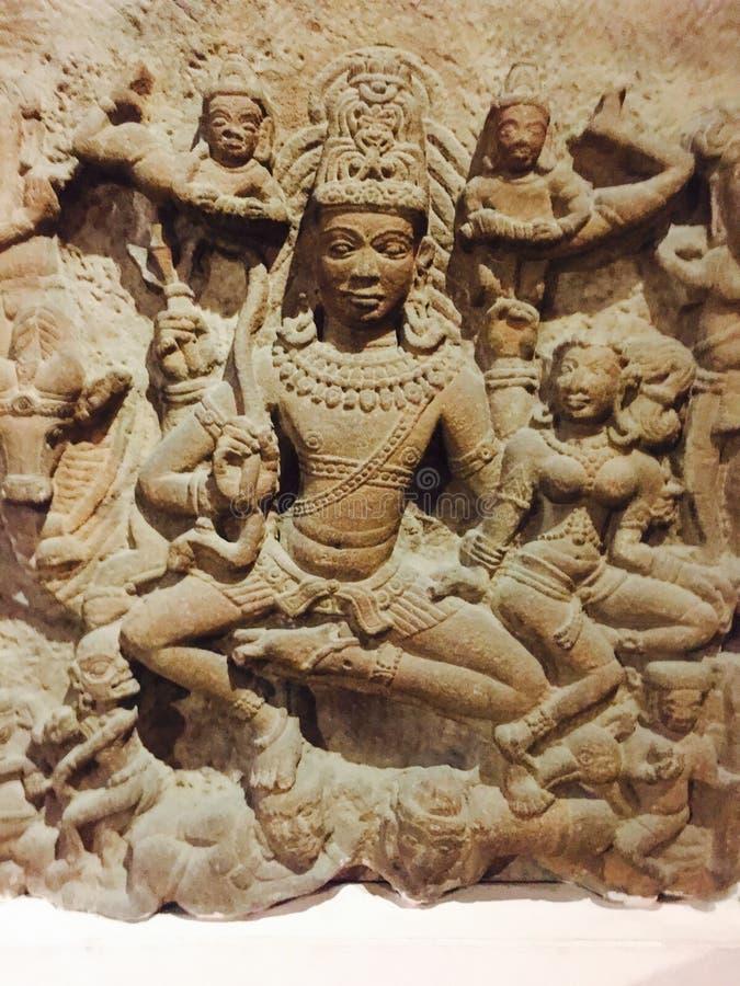 Lord Vishnu royaltyfria bilder