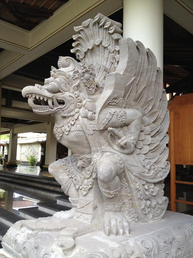 Lord Vishnu. Bali statue of Hindu God Lord Vishnu stock photo