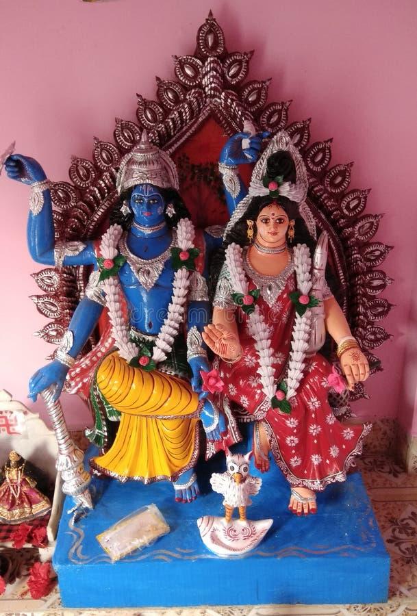 This is the lord Vishnu and Laxmi. stock photos
