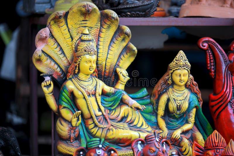 Lord Vishnu-standbeeld royalty-vrije stock foto
