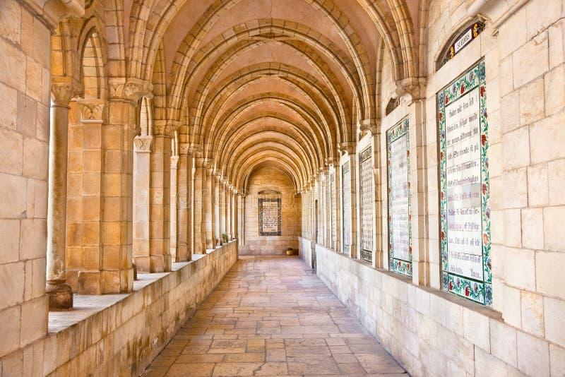 Lords Bön i intern passageway royaltyfri bild