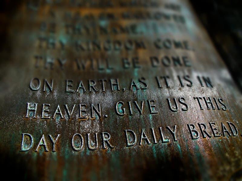 Lords Prayer stock foto's
