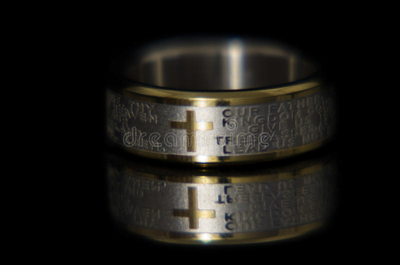 Lords Prayer Ring stock image
