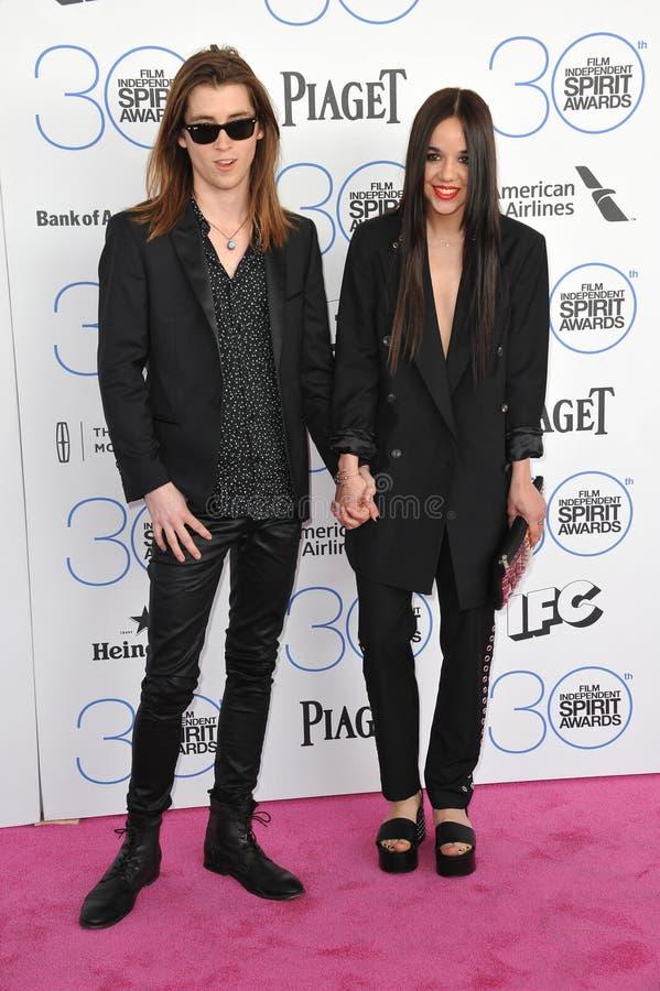 Lorelei Linklater & Justin Jacobs royaltyfria foton