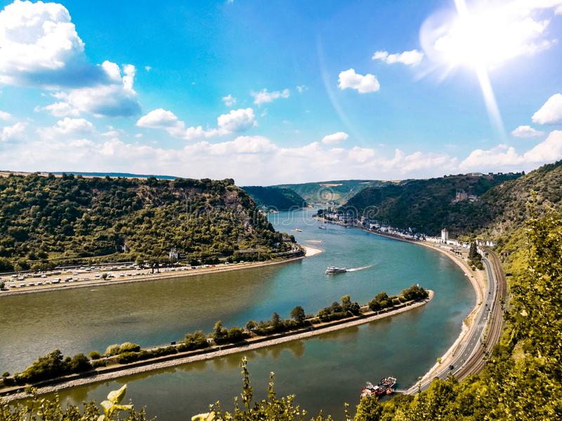 Loreley Рейн Германия стоковая фотография