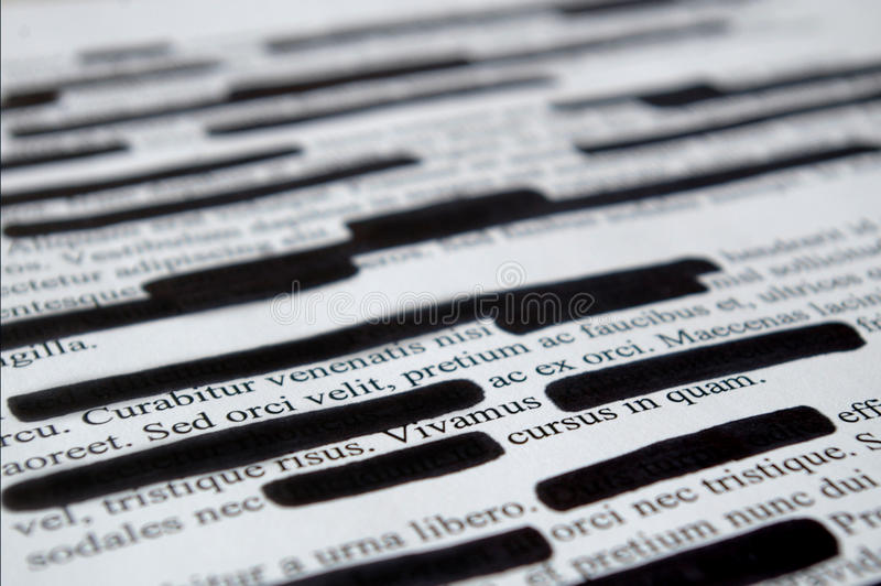 Lorem Ipsum tekst który redacted zdjęcie royalty free