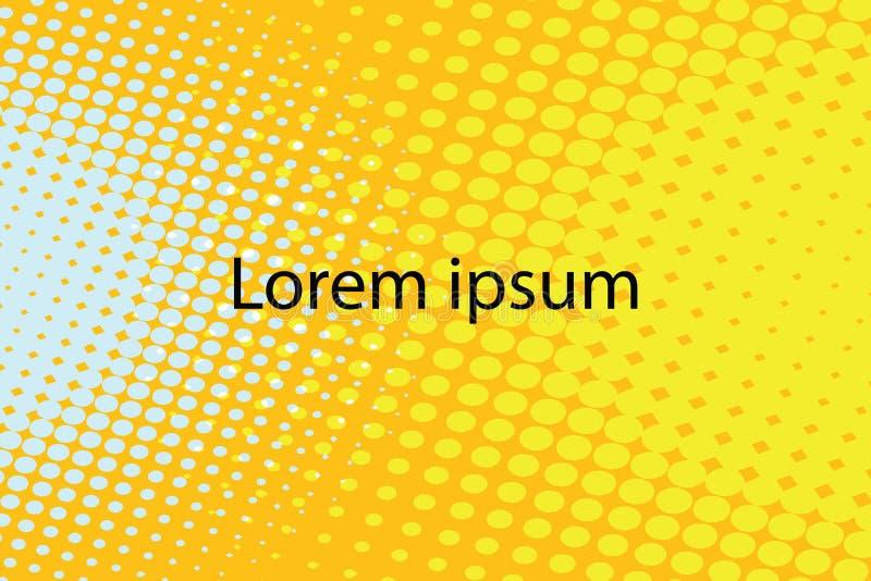 Lorem ipsum wystrzału sztuki żółty abstrakcjonistyczny retro tło ilustracja wektor