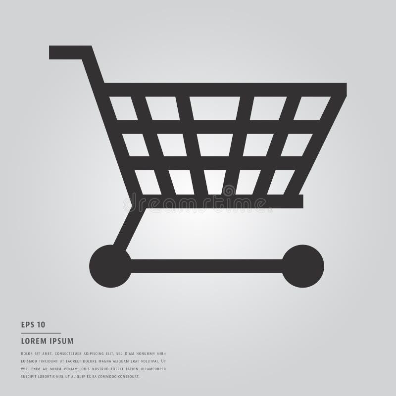Lorem ipsumtext och shoppingvagn vektor illustrationer