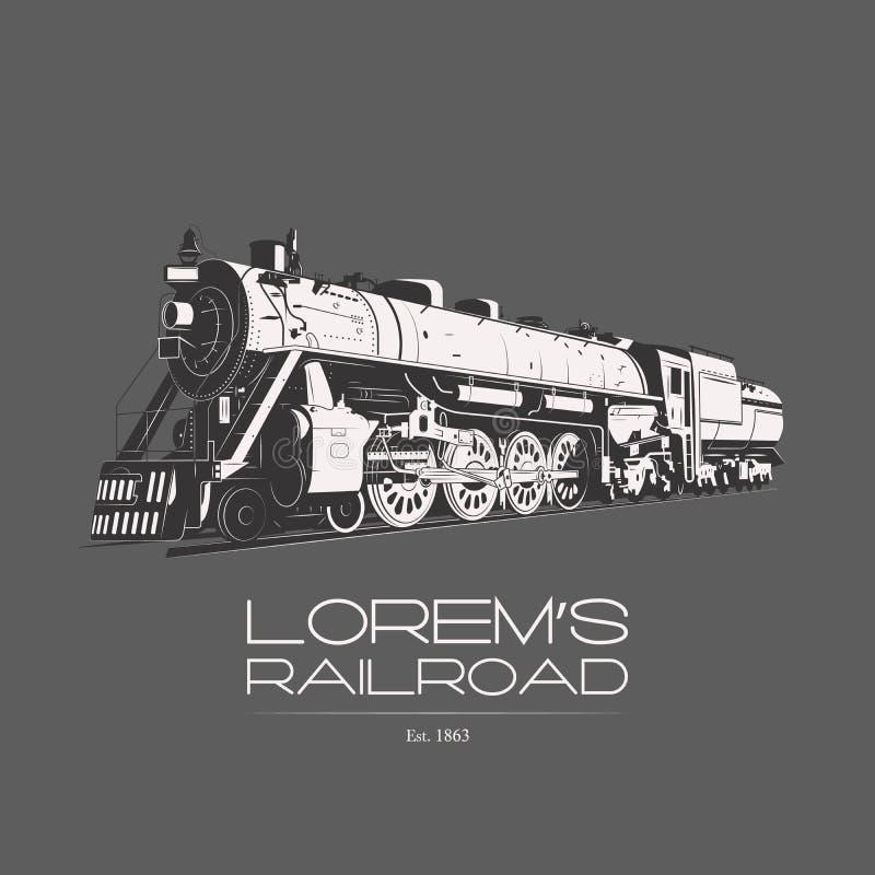 Lorem linii kolejowej logo ilustracja wektor
