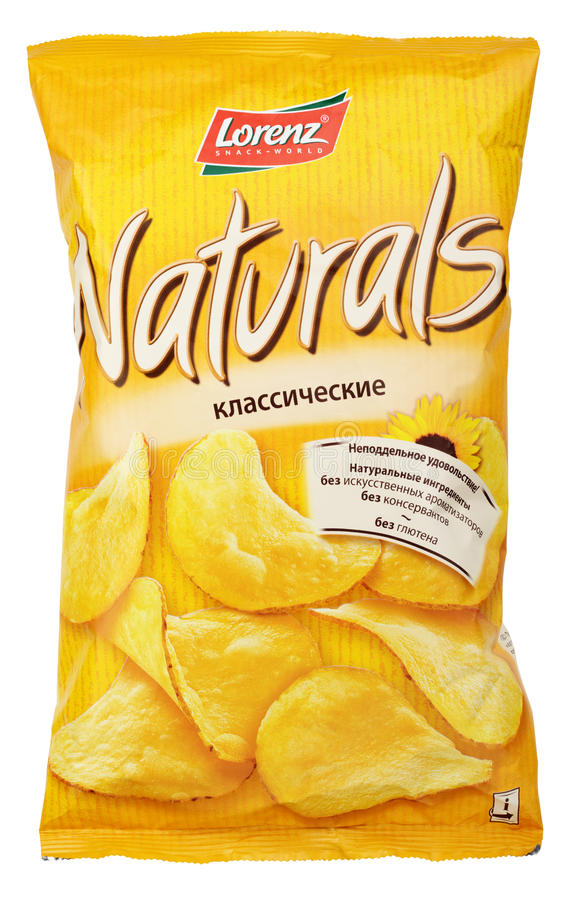 Free Lorenz Naturals Classic Potato Chips Bag Isolated On White Stock Image - 89406831