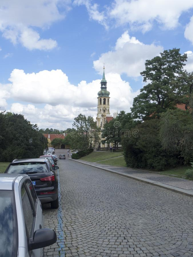 Loretà ¡ nskà ¡ ulica, Praga fotografia royalty free