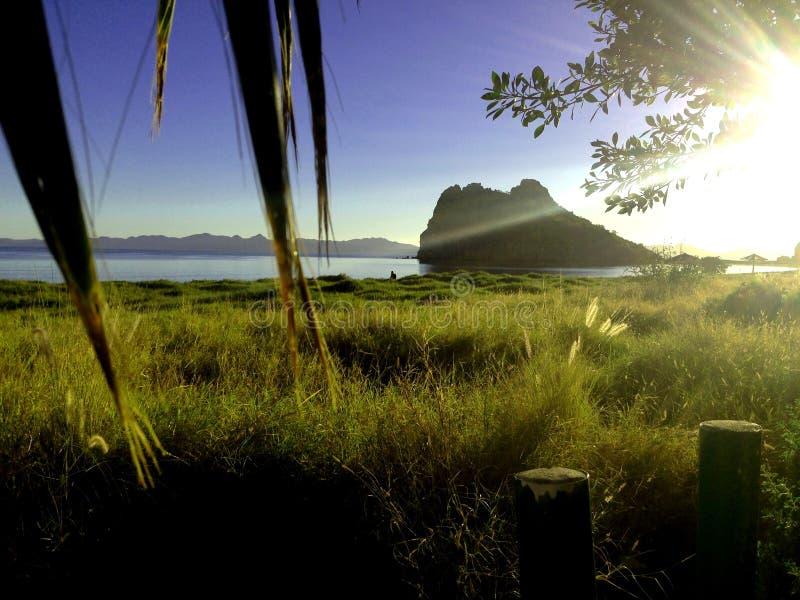 Loreto Bay ad alba fotografia stock
