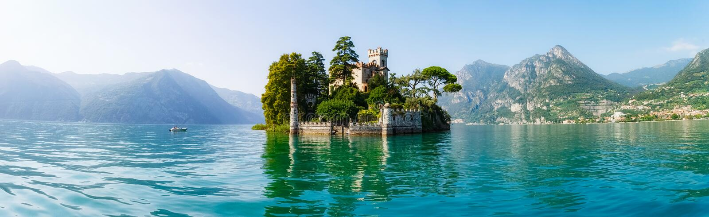 Loreto island in Italy stock photos
