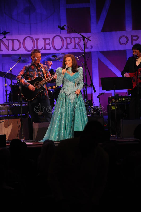 Loretta Lynn performing at the Ryman Auditorium October 2014 stock image