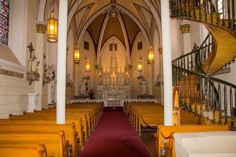Loretto教堂的内部 免版税库存照片