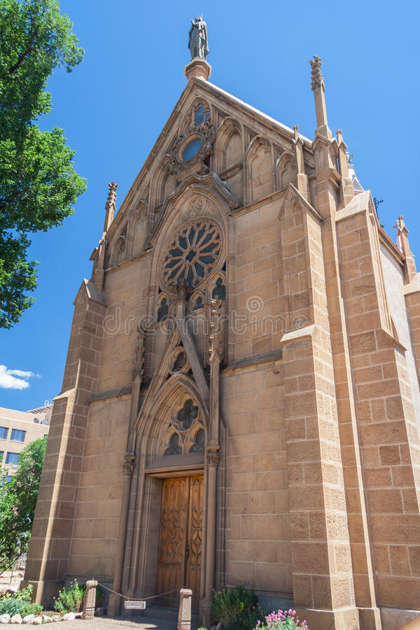 Loretto Chapel in downtown Santa Fe New Mexico royalty free stock photos