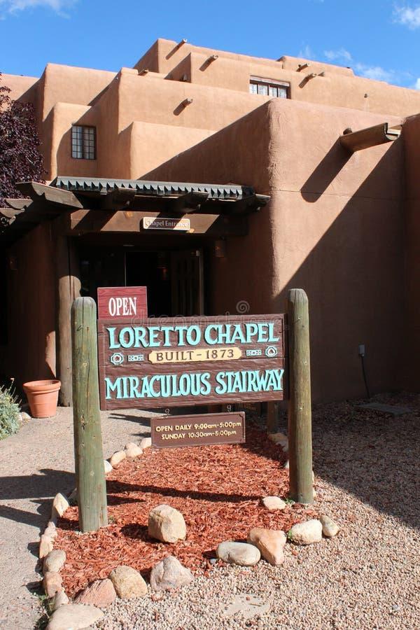 Loretto kapell, Santa Fe som är nytt - mexico royaltyfria foton