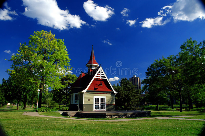 Loring Park Hut royalty free stock photography