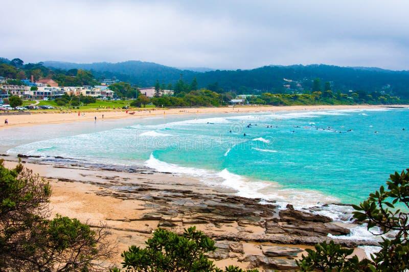Lorne beach on Great Ocean Road, Victoria state, Australia. royalty free stock photos