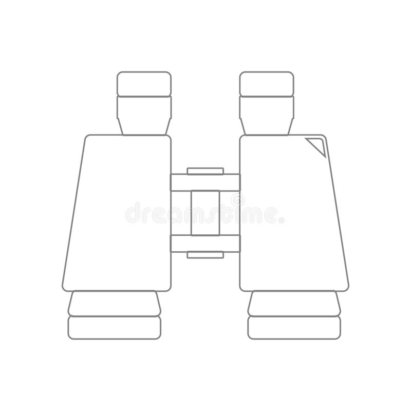 Lornetki ikona Element wojsko dla mobilnego poj?cia i sieci apps ikony Kontur, cienka kreskowa ikona dla strona internetowa proje royalty ilustracja