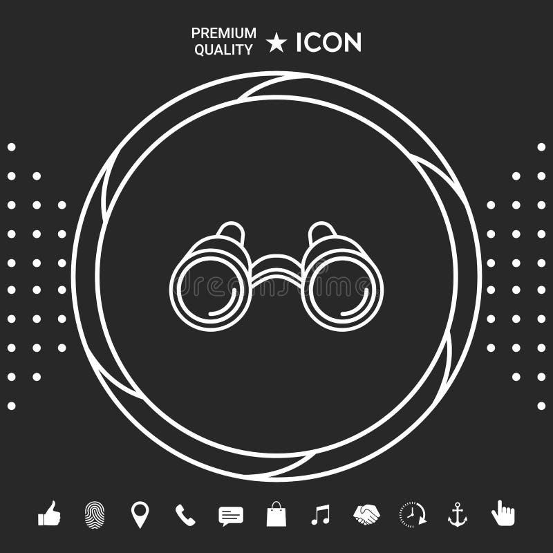 Lornetki wykładają ikonę ilustracji