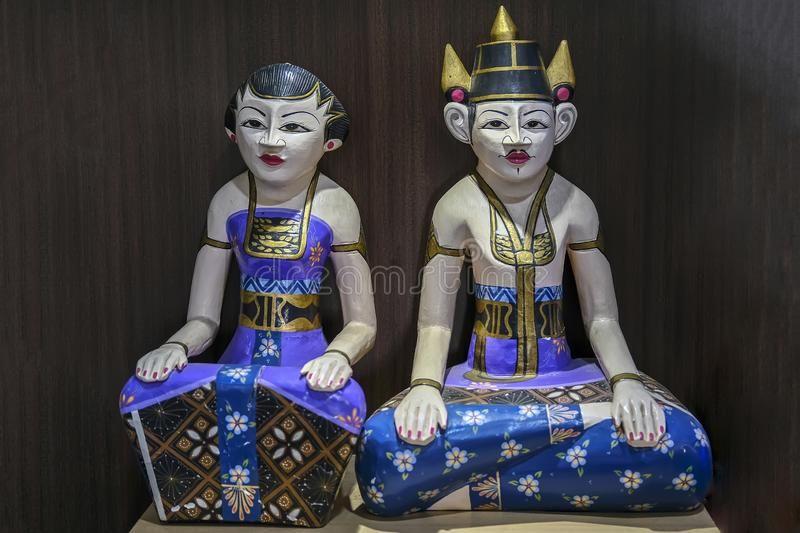 The Loro Blonyo Wooden Statue royalty free stock images