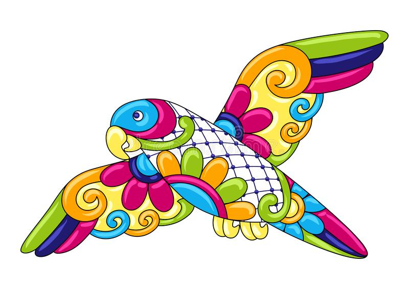 Loro ornamental decorativo E libre illustration