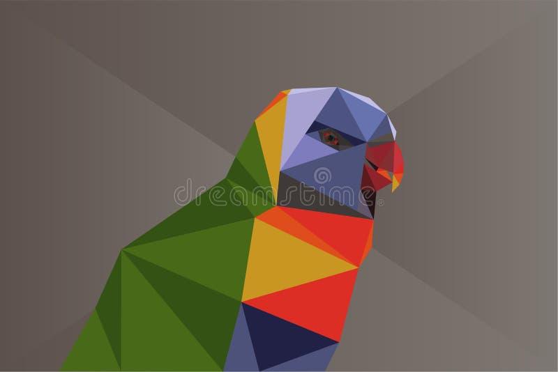 Loro polivinílico bajo ilustración del vector