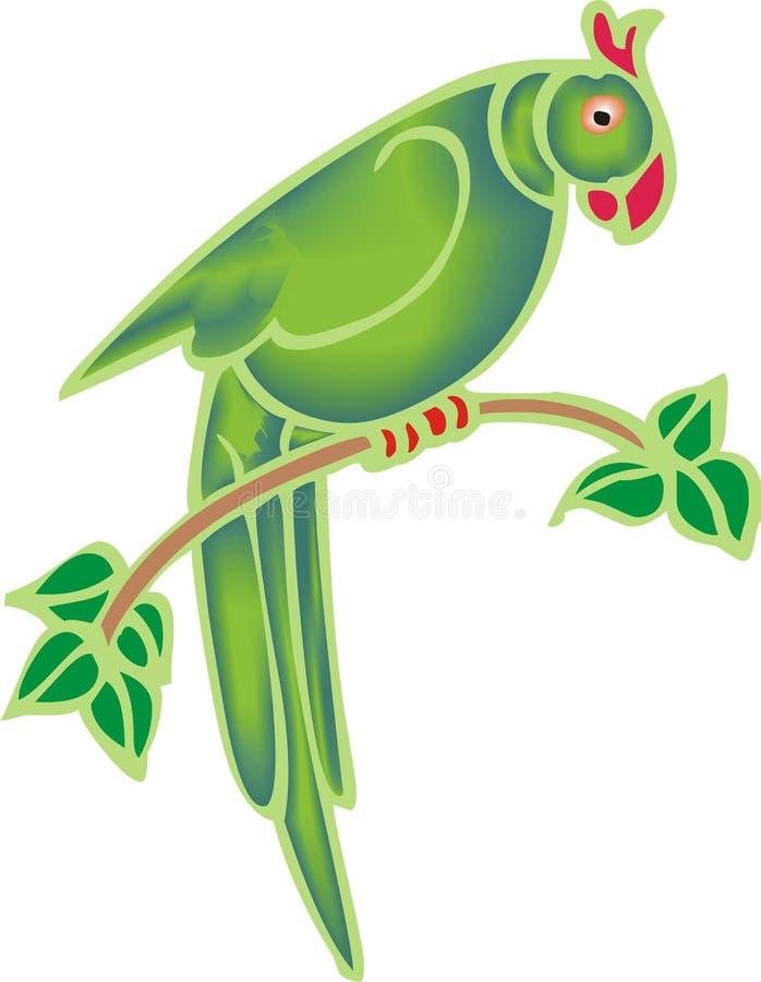 Loro verde libre illustration