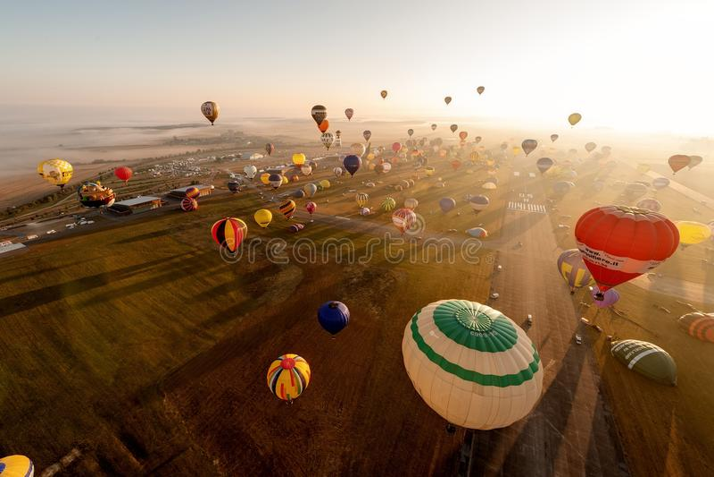 Lorraine Mondial Air Balloon 2015 stock images