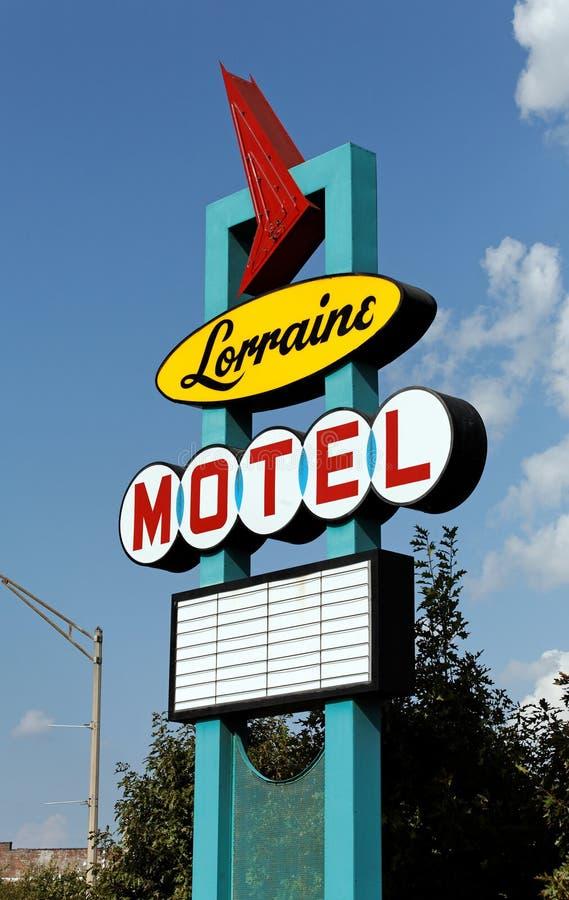 Lorraine Motel lizenzfreie stockfotografie