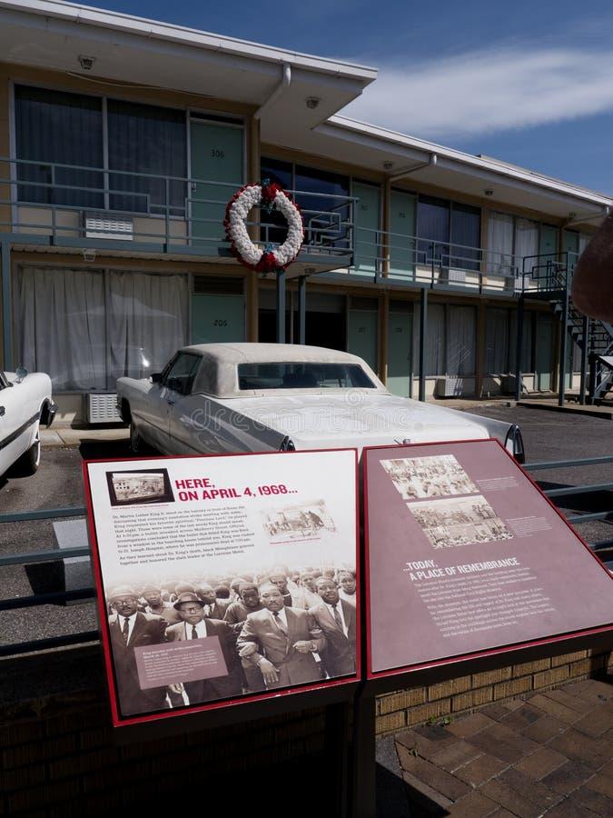 Lorraine Motel in Memphis Tennessee waar Martin L De koning Jnr werd vermoord stock fotografie