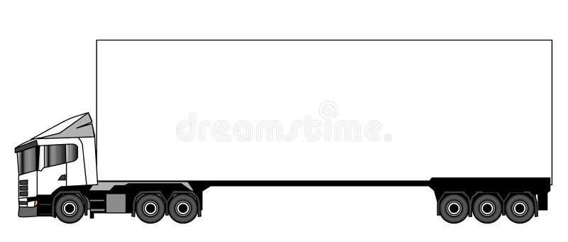 lorry vektor illustrationer