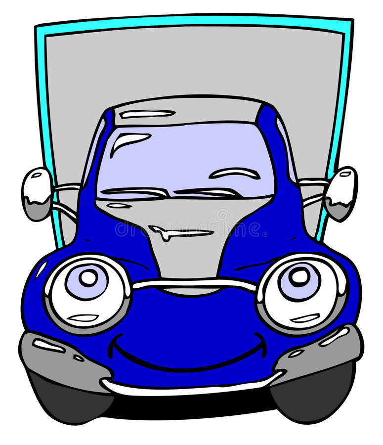 Lorry. Hand drawn cartoon motor lorry vector illustration