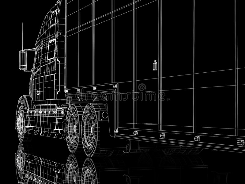 Download Lorry cabin stock illustration. Image of black, fast, tyres - 6540833