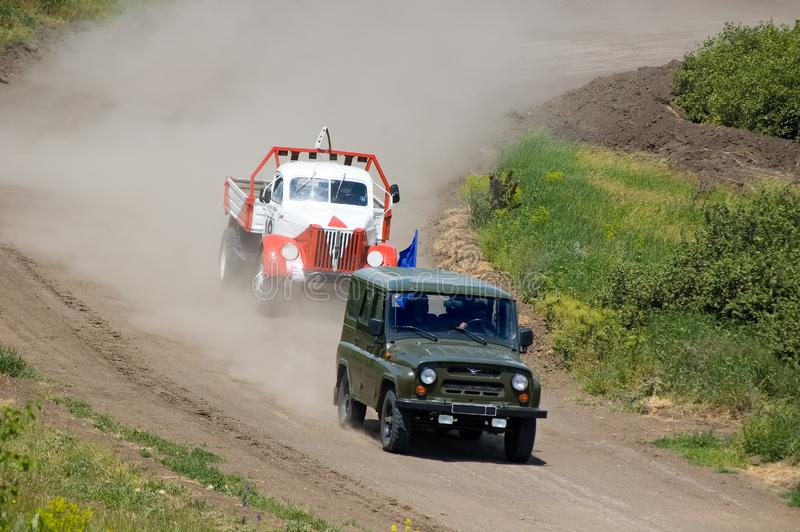 Download Lorry in competition stock photo. Image of road, terrain - 5821324