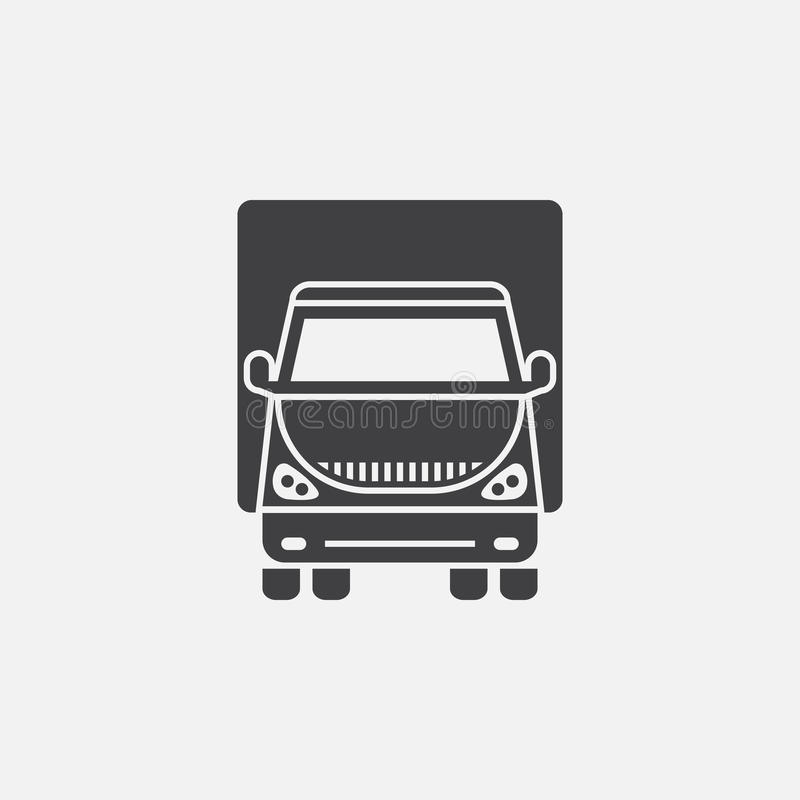 Lorry icon vector isolated on grey background stock illustration