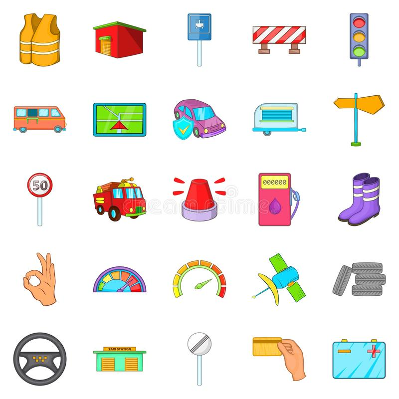 Lorry icons set, cartoon style. Lorry icons set. Cartoon set of 25 lorry vector icons for web isolated on white background vector illustration
