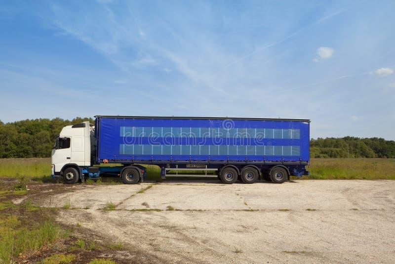 Lorry park stock image