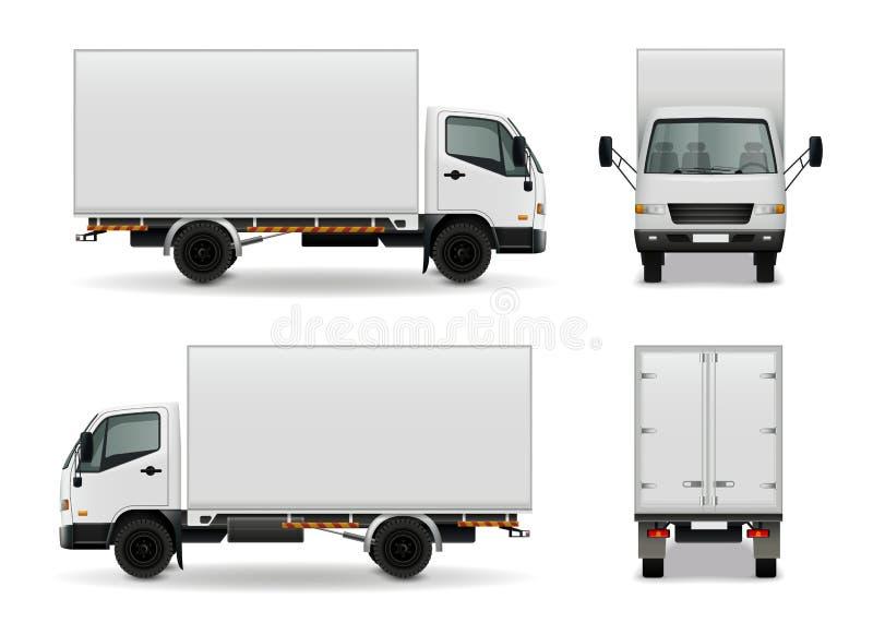 Lorry Realistic Advertising Mockup stock illustratie