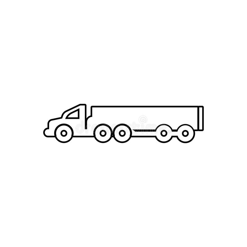 Lorry with a trailer icon. Element of transport for mobile concept and web apps icon. Outline, thin line icon for website design. And development, app vector illustration