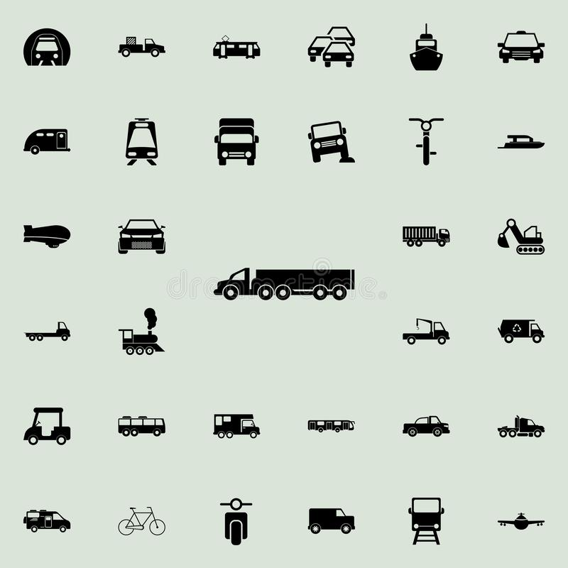 Lorry with a trailer icon. transport icons universal set for web and mobile. On colored background vector illustration