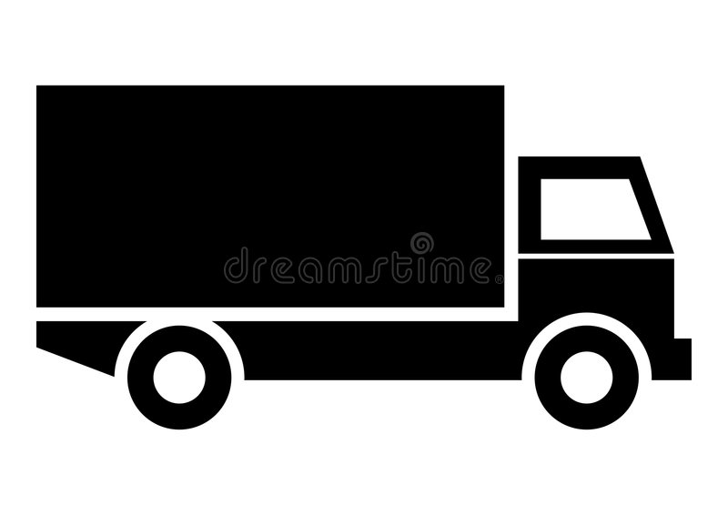 Lorry Truck. Vehicle icon or symbol