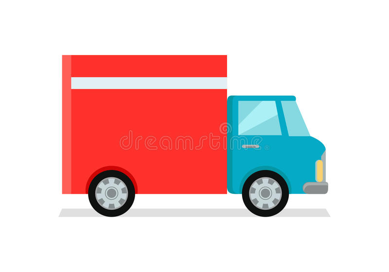 Lorry Truck Worldwide Warehouse Delivering vector illustratie