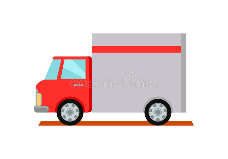 Lorry Truck Worldwide Warehouse Delivering ilustración del vector