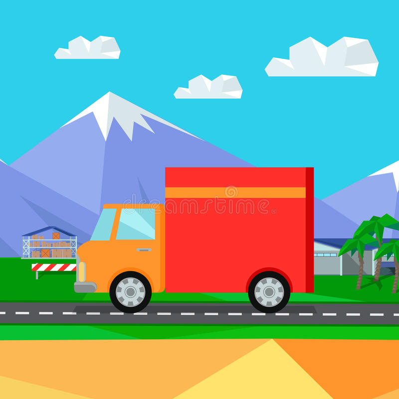 Lorry Truck Worldwide Warehouse Delivering libre illustration