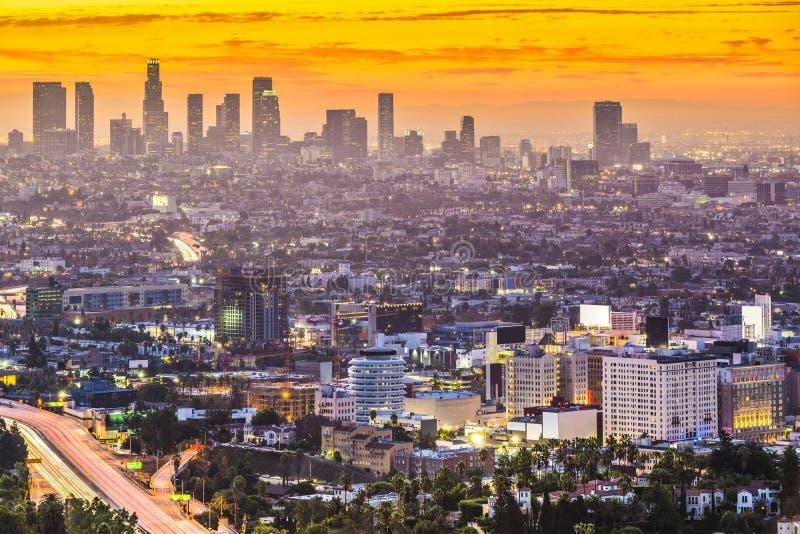 Los Ángeles céntrico imagen de archivo libre de regalías