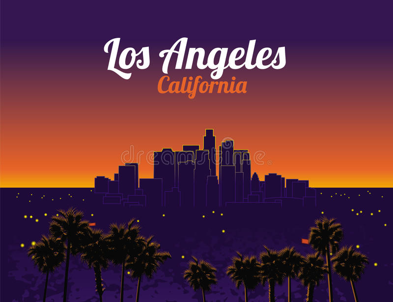 Los Ángeles California libre illustration